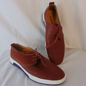 Merkmak Brown Leather Lace Up Shoes Mens 10